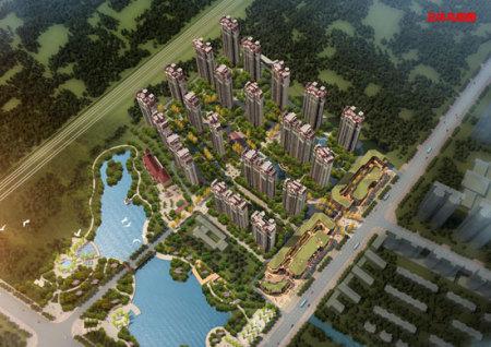 淮北恒大中央公园鸟瞰图